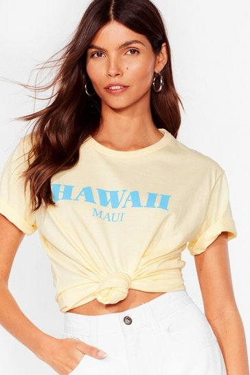 Lemon You're So Lei'd Back Hawaii Graphic Tee