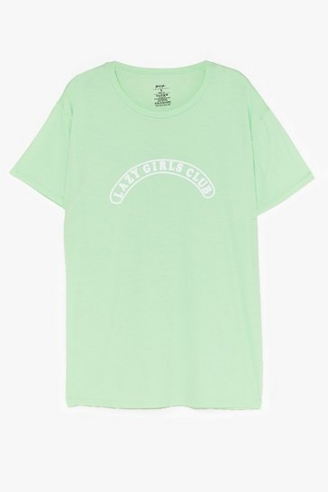 Mint Lazy Girls Club Graphic Tee