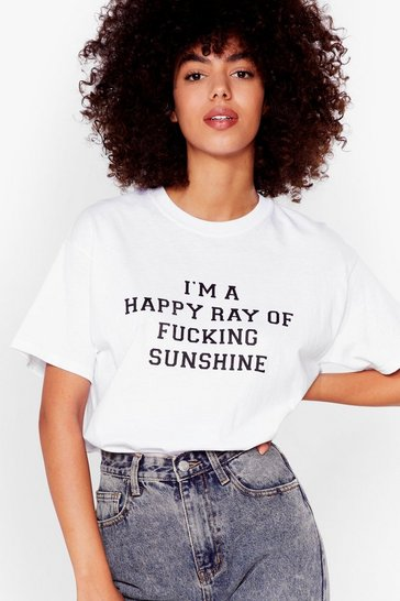 White Ray of Fucking Sunshine Graphic Tee