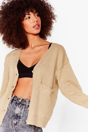 Oatmeal Pocket It Like This Button-Down Cardigan