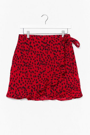 Red Hear Me Roar Animal Mini Skirt