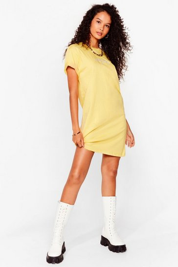 Lemon everyday Sunday embroidered t shirt dressa