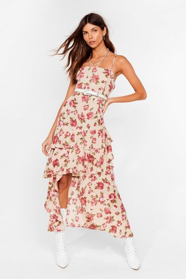 Stone Waterfall-en For You Floral Halter Dress