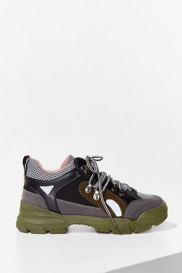 Khaki Times Hike These Chunky Lace-Up Sneakers
