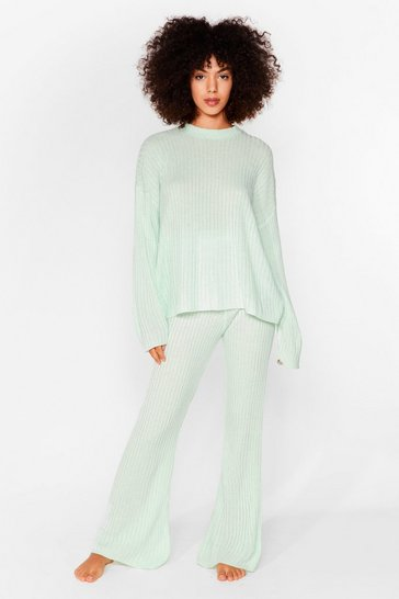 Mint Another Bright Idea Knit Sweater and Pants Set