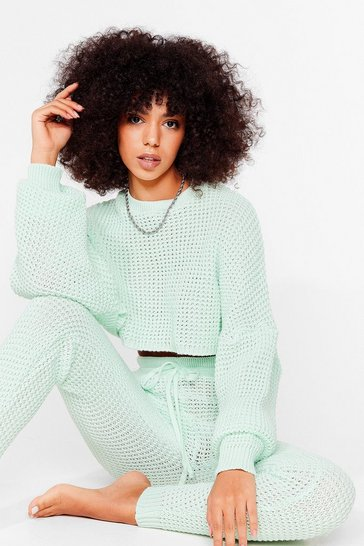 Mint Knit's Down to You Jumper and Jogger Set