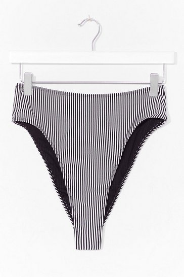 Black Summer in the City Stripe Bikini Bottoms