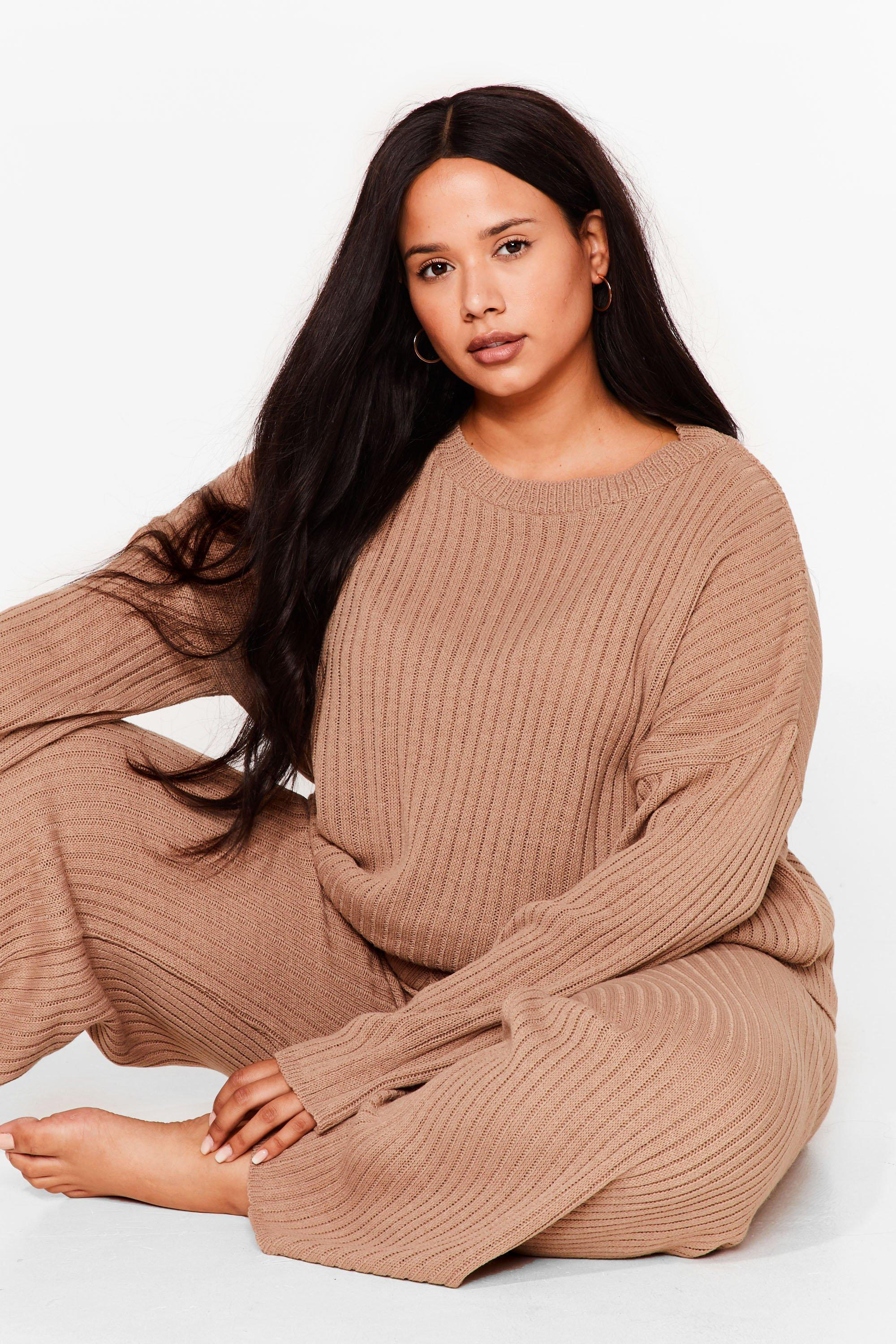PLUS SIZE KNITTED SWEAT AND PANTS LOUNGE SET 6