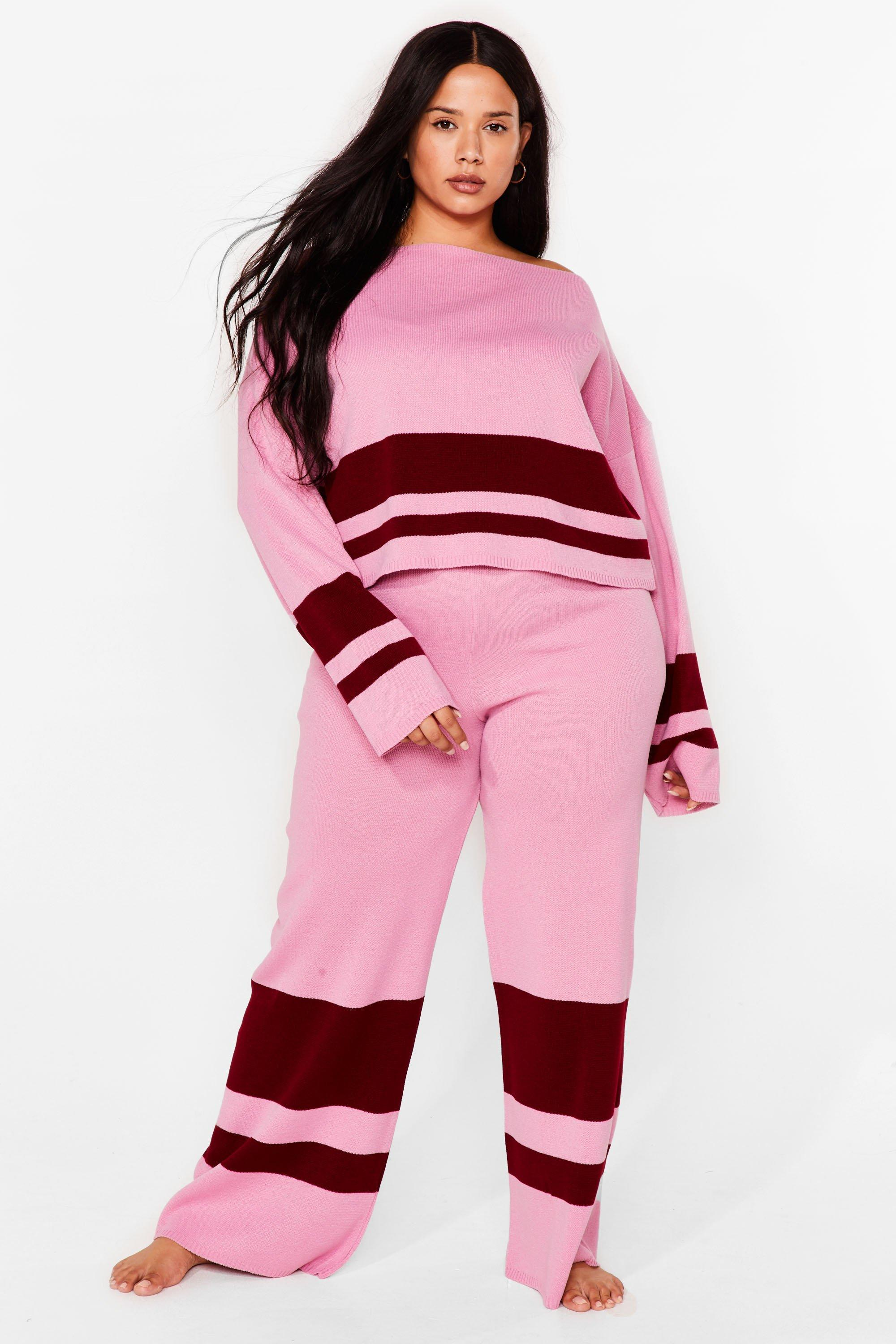 PLUS SIZE COLOURBLOCK LOUNGE SET 7