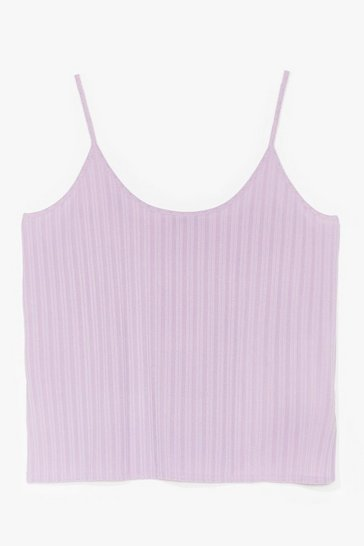 Lilac Rib Off on You Plus Cami Top