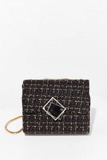 Black WANT As If Check Multiway Crossbody Bag