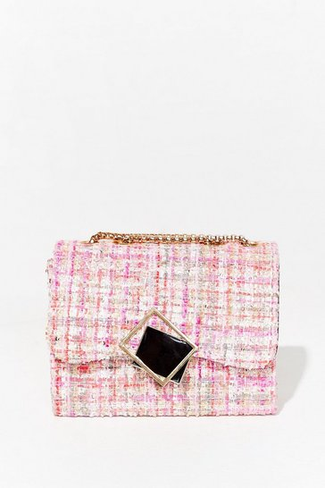 Pink WANT As If Check Multiway Crossbody Bag