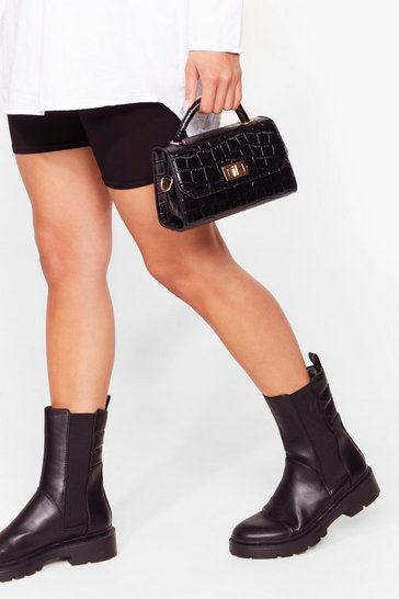 Black WANT Croc With You Crossbody Bag