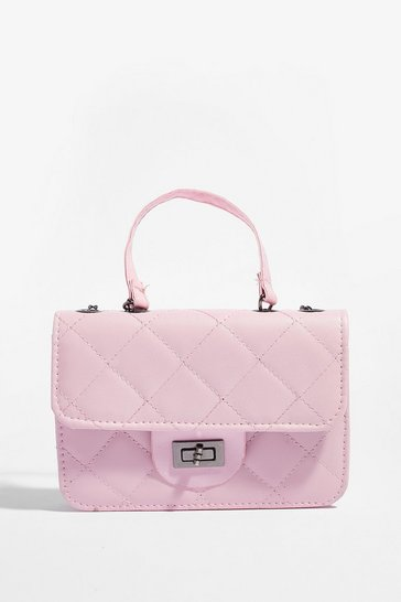 Baby pink WANT Hog the Quilt Mini Shoulder Bag
