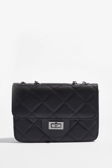 Black WANT Hog the Quilt Mini Shoulder Bag