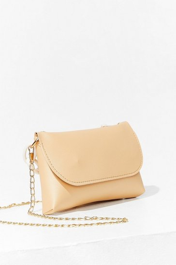Beige Chain It On the Boogie Crossbody Bag