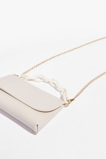 White WANT Chain It On the Boogie Crossbody Bag