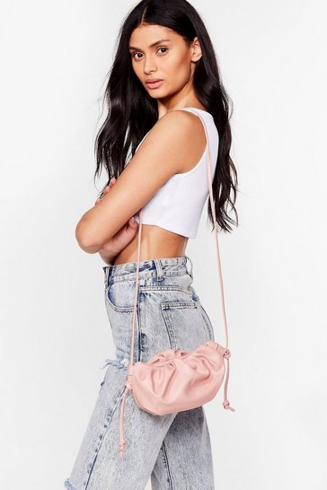 Rose WANT A Real Slouch Ruched Crossbody Bag