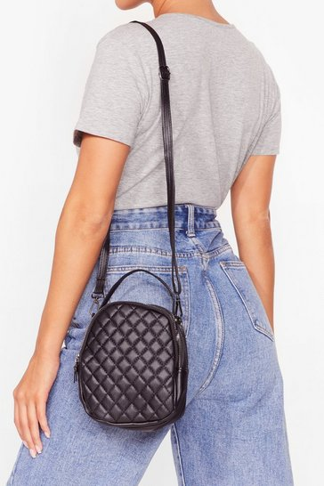 Black WANT We Quilt This City Mini Backpack
