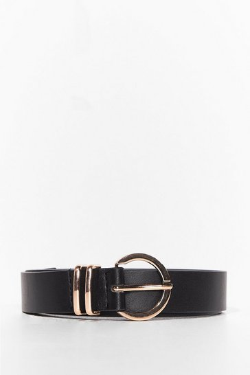Black Don't Waist Our Time Faux Leather Belt