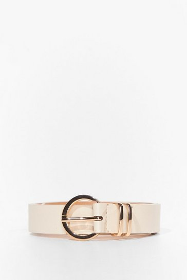 Stone Don't Waist Our Time Faux Leather Belt