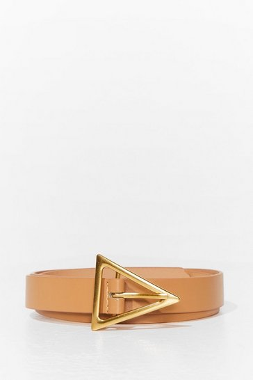 Nude Explain Your Point Faux Leather Triangle Belt