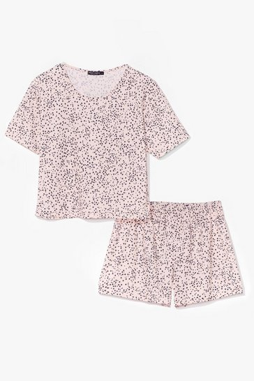 Blush Shining Star Tee and Shorts Pajama Set