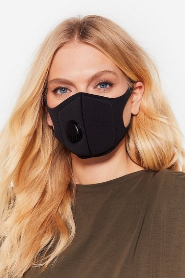 Black Neoprene Fashion Face Mask