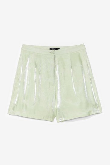 glass shorts co ord, Mint