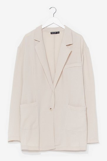 Stone It's Just Business Oversized Blazer