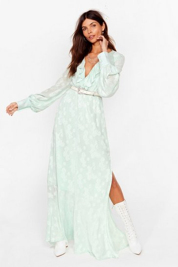 Sage Don't Stop the Dancin' Floral Maxi Dress