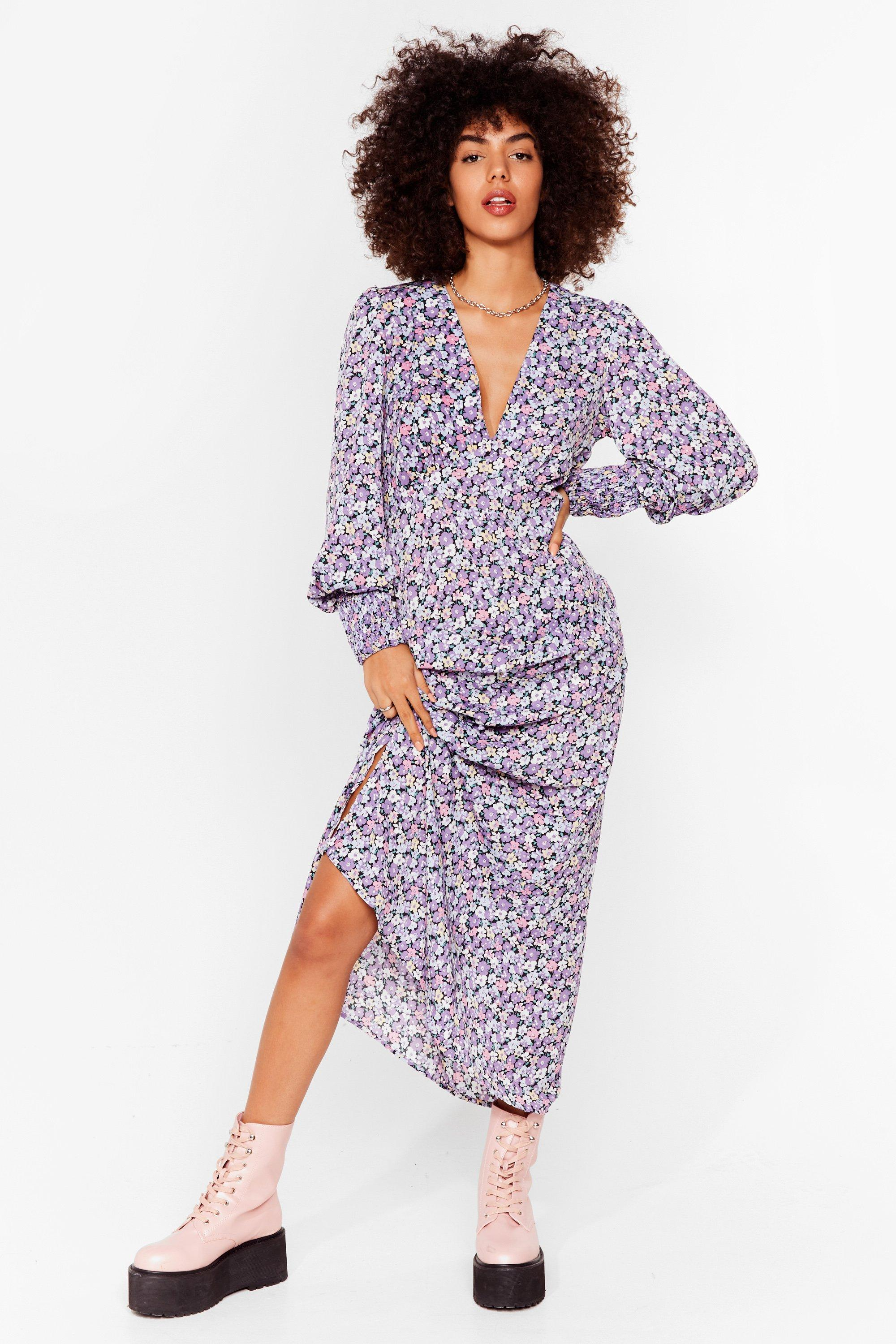 Take the Plunge Floral Maxi Dress