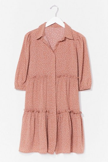Nude Spot It Going On Shirt Mini Dress