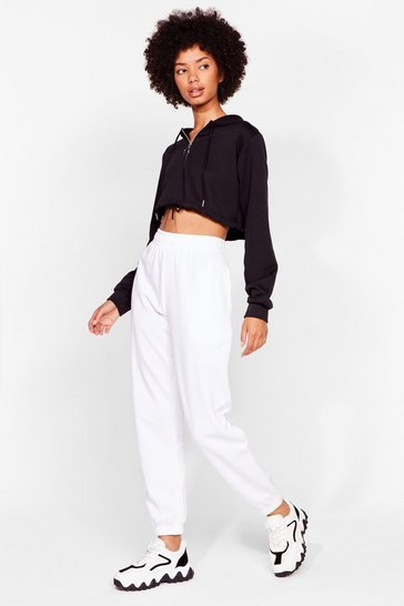 White Comfort is Queen Oversized Joggers