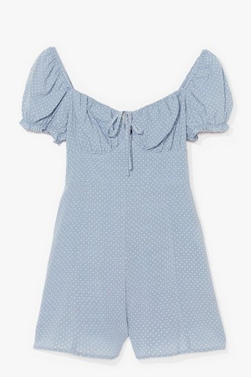 Blue Spot Are We Gonna Do Puff Sleeve Playsuit