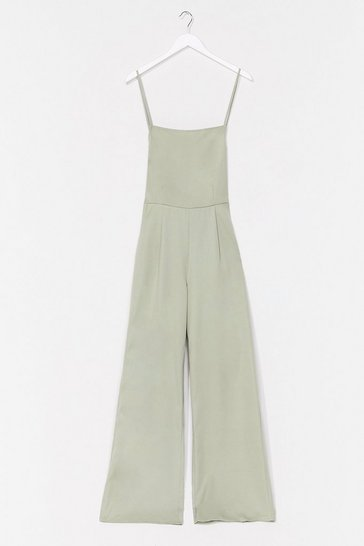 Sage It's a Tie Open Back Strappy Jumpsuit