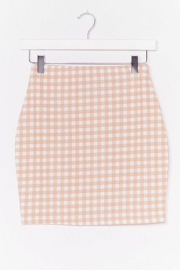 Stone Short and Sweet Gingham Mini Skirt