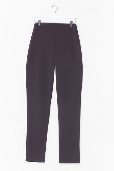 Black Put 'Em High-Waisted Straight-Leg Pants