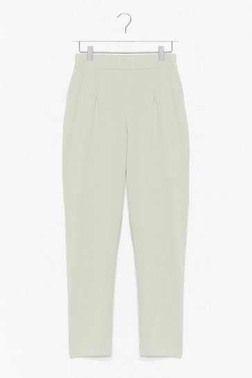Sage She's the Boss High-Waisted Tapered Pants