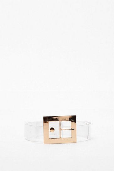 Clear View Square Buckle Belt