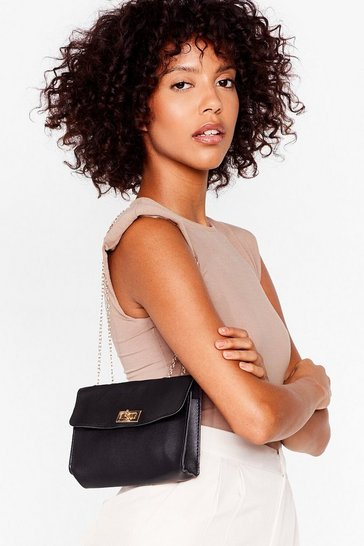 Black WANT Hold Your Own Faux Leather Crossbody Bag