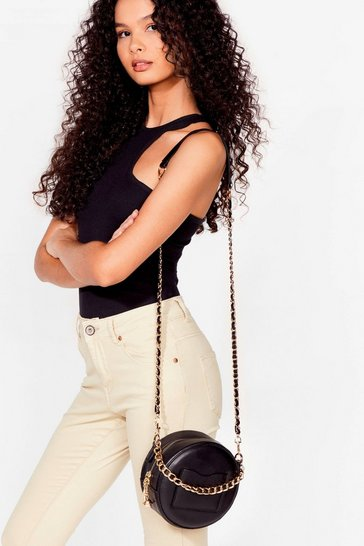 Black WANT Make a Chain-ge Circle Crossbody Bag