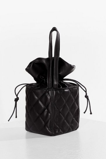 Black WANT Box It Up Quilted Crossbody Bag