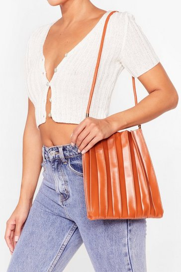 Camel WANT The Pleat of the Night Shoulder Bag