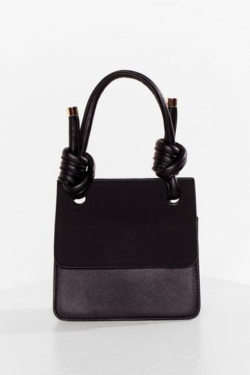 Black WANT Knot a Problem Faux Leather Bag