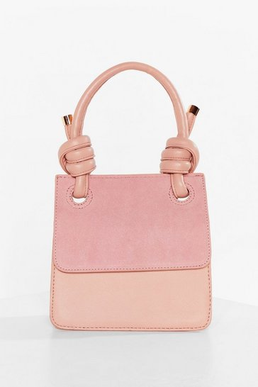 Pink WANT Knot a Problem Faux Leather Bag