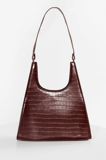 Chocolate WANT Croc on Our Watch Tote Bag