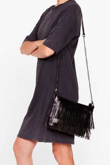 Black WANT For the Fringe of It Crossbody Bag