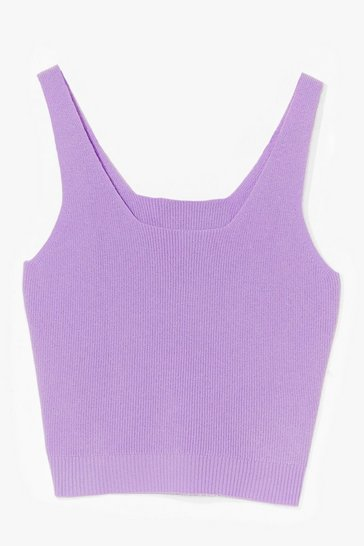 Lilac Time for You Knitted Lounge Crop Top