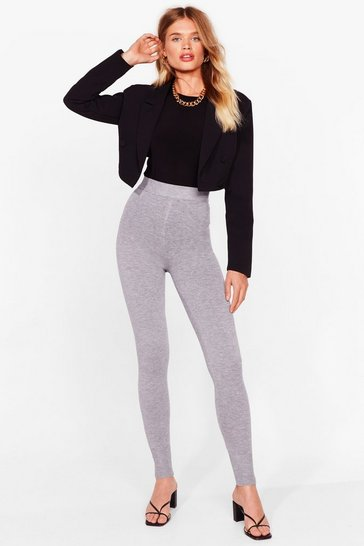 Grey Knit's That Time Again High-Waisted Joggers